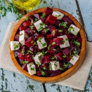 Rote Beete Salat mit Salakis