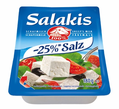 Salakis -25 Prozent Salz
