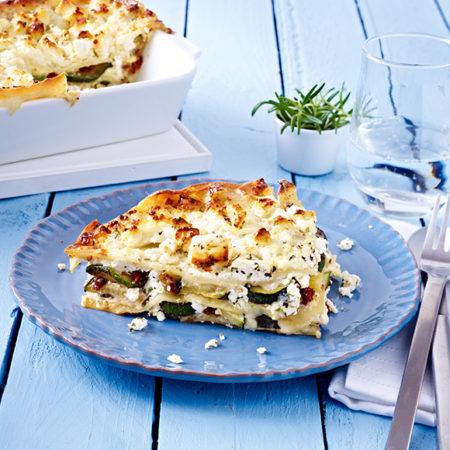 Salakis Zucchini Schafkäse Lasagne