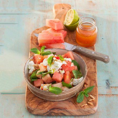Wassermelonensalat mit Schafkäse
