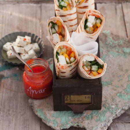 Salat Wraps mit Salakis